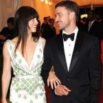 Justin Timberlake and Jessica Biel party together