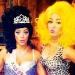 Miley Cyrus dresses as Nicki Minaj for Halloween