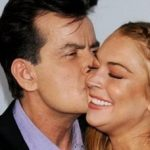 Charlie Sheen gets close to Lindsay Lohan at Scary Movie 5 premiere