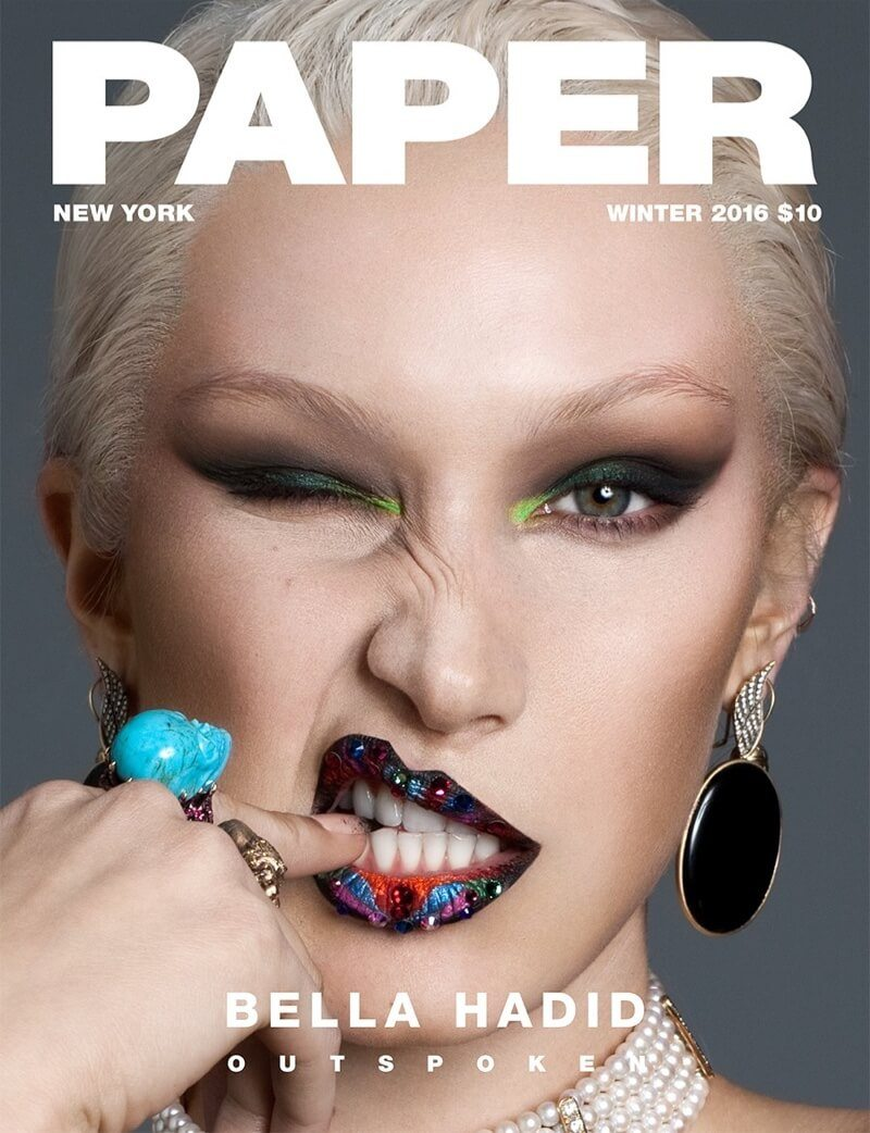 Top model Bella Hadid in Paper Magazine's Winter 2016 Issue