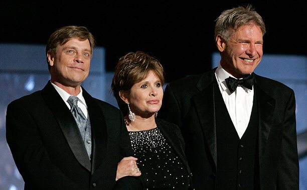carrie_fisher_mark_hamill_harisson_ford_tribute_george_lucas