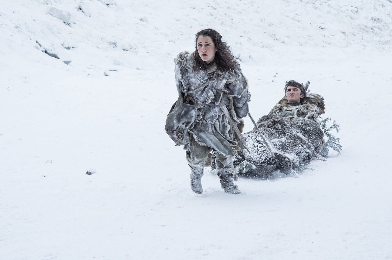 Meera Reed and Bran Stark Game Of Thrones Season 7