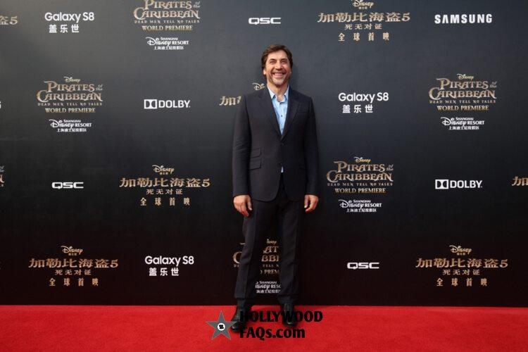 Javier Bardem Pirates Of The Caribbean: Dead Men Tell No Tales premiere Disneyland Shanghai