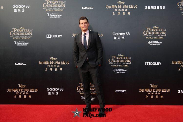 Orlando Bloom Pirates Of The Caribbean: Dead Men Tell No Tales premiere Disneyland Shanghai