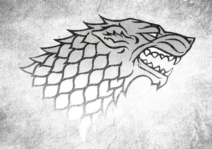Game of Thrones Stark Sigil Direwolf