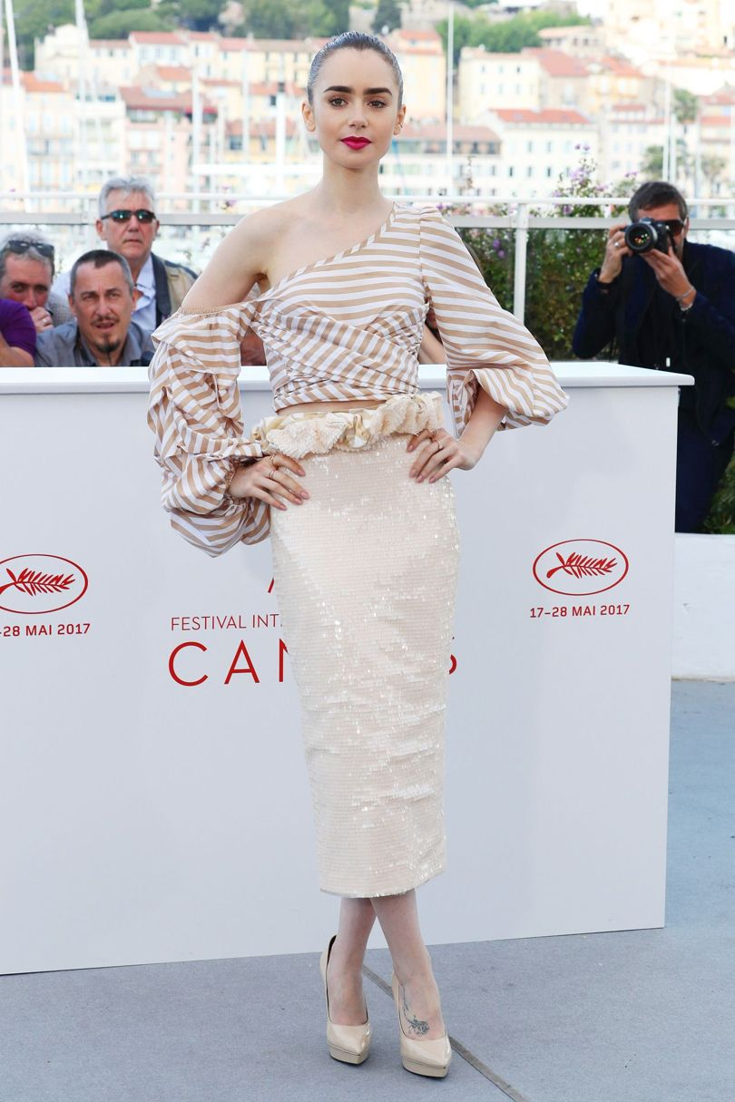 Lily Collins Cannes Film Festival 2017