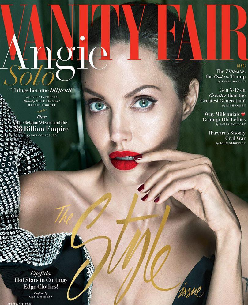 Angelina Jolie on the cover of Vanity Fair September issue