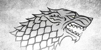Game of Thrones Stark Sigil Direwolf